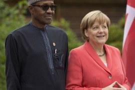 Muhammadu Buhari and Angela Merkel
