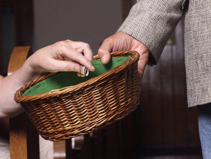 tithe-basket