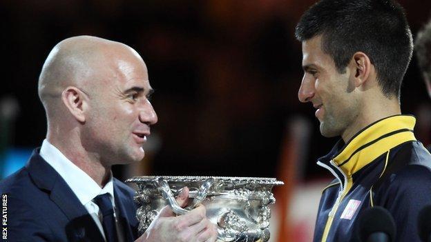 Novak Djokovic hires Andre Agassi