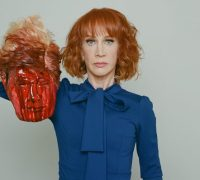 Kathy Griffin carries decapitated Donald Trump head