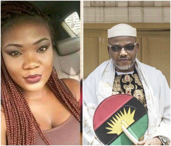 Lady Blasts 'Deceiver' Nnamdi Kanu After Pizza Place Meet