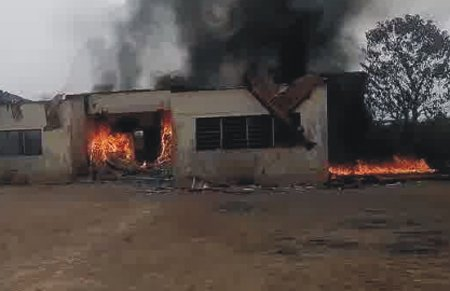 fire in plaza in owerri