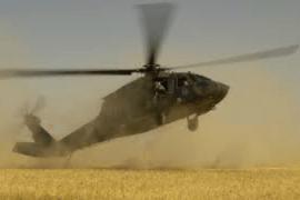 helicopter crashing