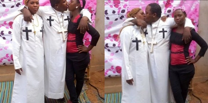 Nabii tito kissing his wife and house-help in public