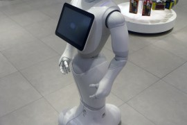Pepper robot in a retail store