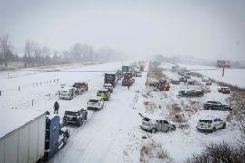 snowy 100 car pile-up in Iowa