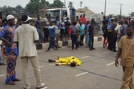 man crushed to death by BRT bus