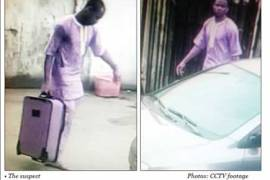 burglar breaking into software office cctv footage