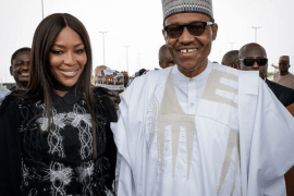 Naomi Campbell meets with President Buhari