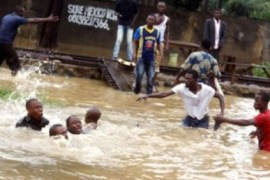 pupils die in storm in septic tank during downpour