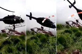 helicopter crash kills man colombia