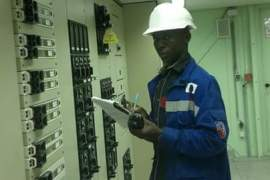 Martin Ibiam working at his job