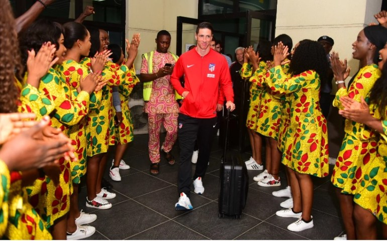 Fernando Torres Arrives Nigeria