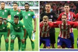 Collage photo of Super Eagles and Atletico Madrid