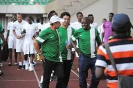 Coach Rohr and Nigerian Team