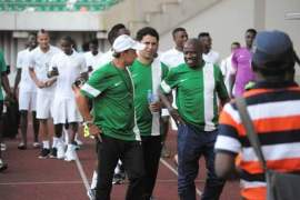 Coach Rohr and Nigerian Team