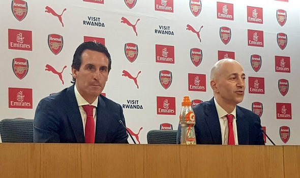 Unai Emery and Ivan Gazidis