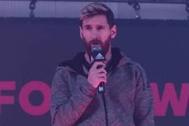 Messi making annoucements