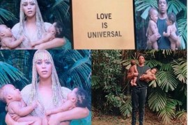 Concert Photos showing Beyonce and JayZ with their twins