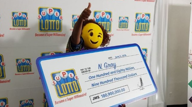 Woman Wears Emoji Mask To Hide Identity While Collecting Lottery Check