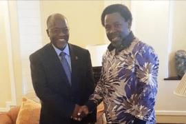 Magufuli With TB Joshua Nov 2015
