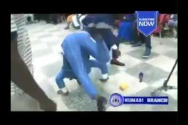 ghanaian pastor tumbling after hearing good news