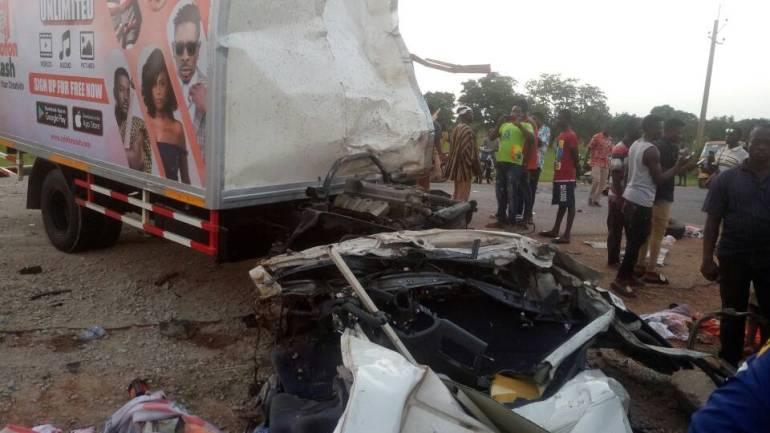 accident scene of patoranking's fans