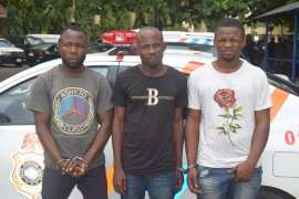 Traffic robbers arrested by Rapid Response Squad (RRS) of the Lagos State Police Command