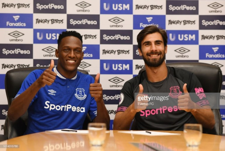 Yerry Mina and Andre gomes Everton