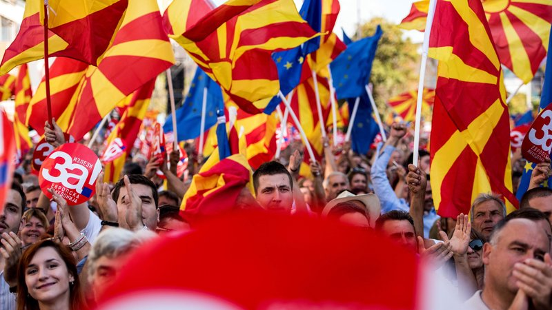 Macedonians vote on new country name, future with West
