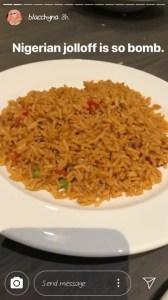 Blac Chyna's jollof rice