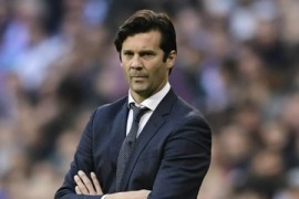 Santiago Solari of Real Madrid