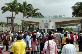 National Assembly complex protest