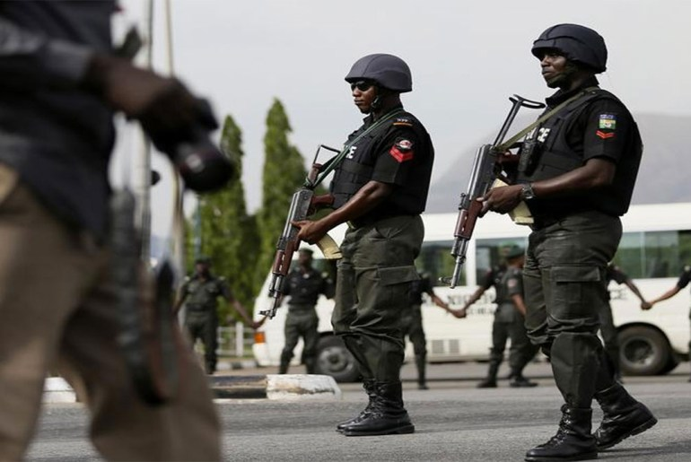Nigeria-Police - security personnel