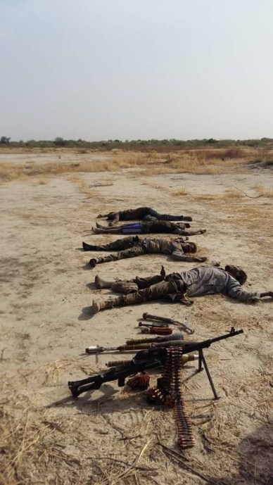 Photos: Many terrorists killed as Army repel attack from Boko Haram in Borno