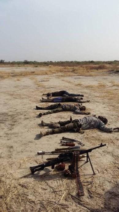 Photos: Many terrorists killed as Army repel attack from Boko Haram in Borno