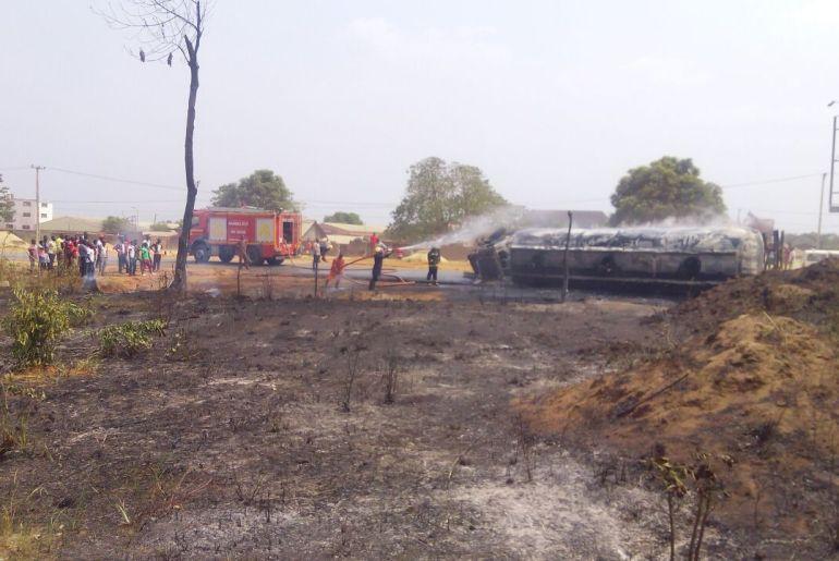 petrol tanker fire