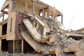 collapsed building in Ibadan