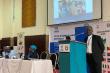 The UNHCR Representative to Nigeria and ECOWAS, Antonio Jose Canhandula speaking at the ECOWAS Ambassadors Retreat in Uyo.