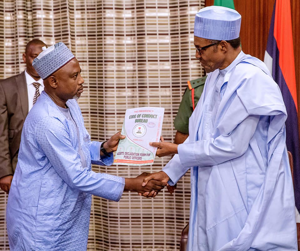 Buhari and CCB Chairman