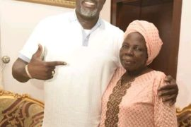 Dino Melaye and mother, Mrs Comfort Melaye