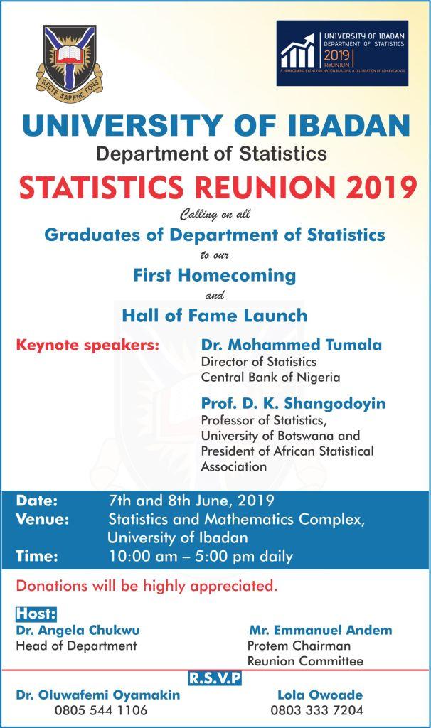 Statistics Department Reunion