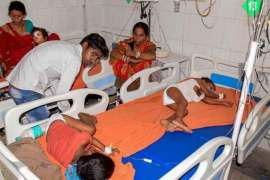 India kids with brain disease