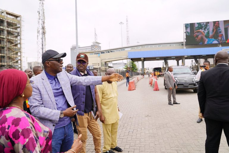 Sanwo-Olu at Lekki toll-gate