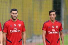 Arsenal players - Ozil, Kolasinac