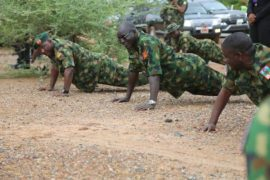 Buratai Nigerian Army with troops