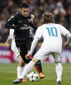 Neymar in action against Real Madrid