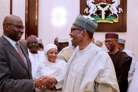 Boss Mustapha takes oath of office as Buhari swears in ministers