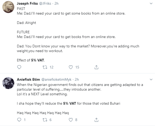 Nigerians berate FG's plans to charge 5% VAT on all online transactions
