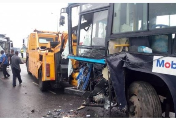 Photos: Again, two BRT buses ram into each other, many passenger injured
